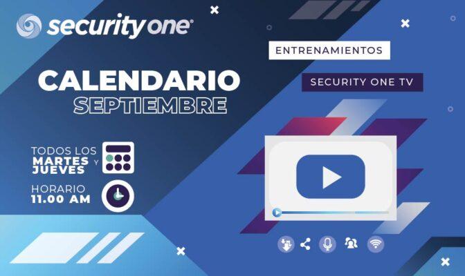 Calendario Septiembre Webinars, Security One Tv, Entrenamientos.